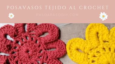 Cómo hacer posavasos de flores al Crochet