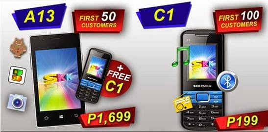 Get SKK Mobile A13 Android Smartphone Plus C1 Feature Phone For Only Php1,699