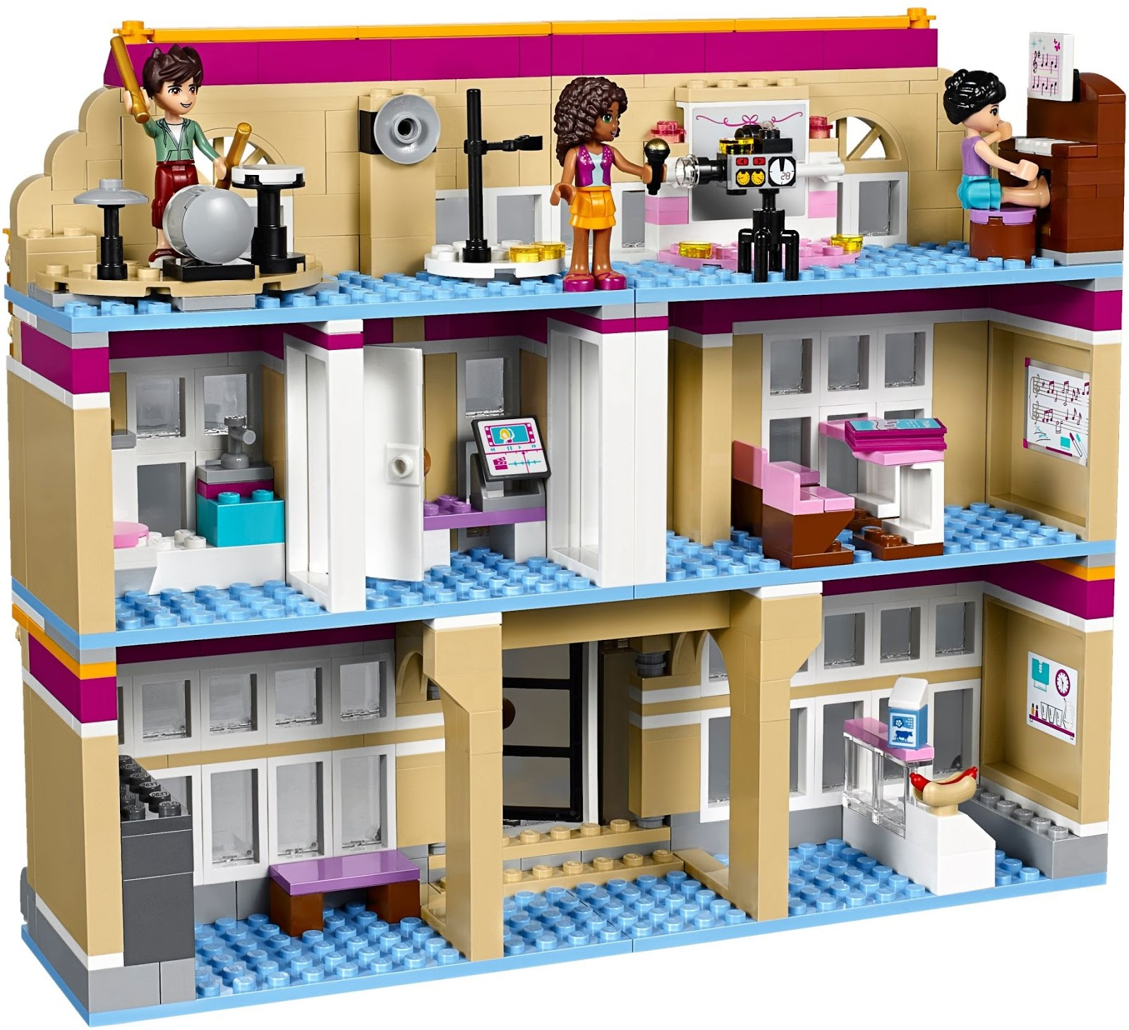 how to build lego friends heartlake news van
