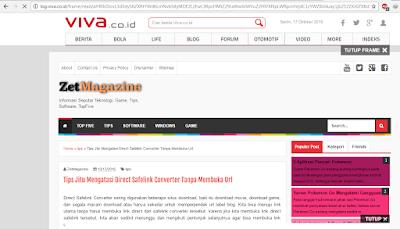 Meningkatkan Visitor Blog Dari Log Viva Tanpa Submit Artikel