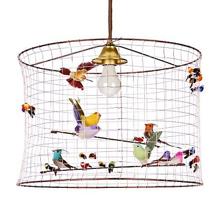 in that photo you can tell it wasnu0027t originally a bird cage but a lampshade that has wires vs paper i promise to make one of those next time - Birdcage Chandelier