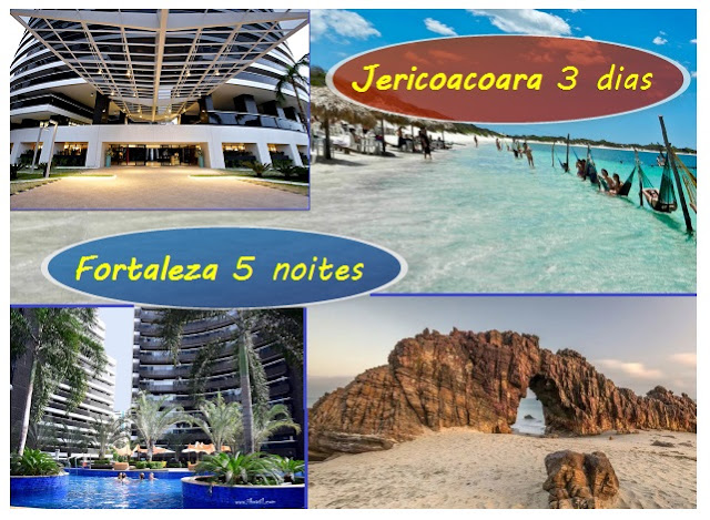 Pacote Fortaleza + Jericoacoara: Landscape Beira Mar + Pousada + Traslado + Passeio