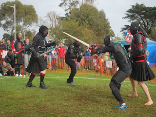People are learning to sword fight like warriors