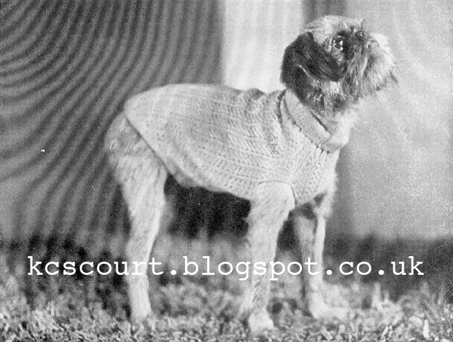 Free 1930's Knitting - Every Dog Must Have is Coat!
