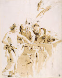 Scherzo di Fantasia by Giovanni Battista Tiepolo - Genre Drawings from Hermitage Museum