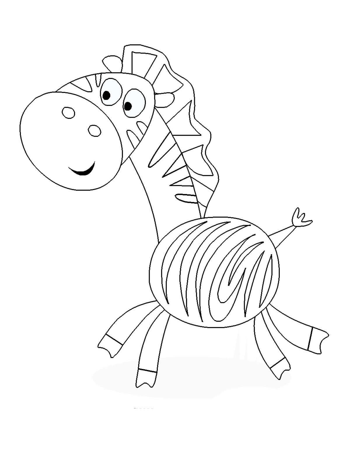 Zebra printable kids coloring pages