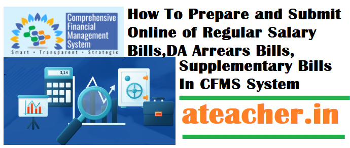 How To Prepare and Submit Online of Regular Salary Bills,DA Arrears Bills,Supplementary Bills In CFMS System