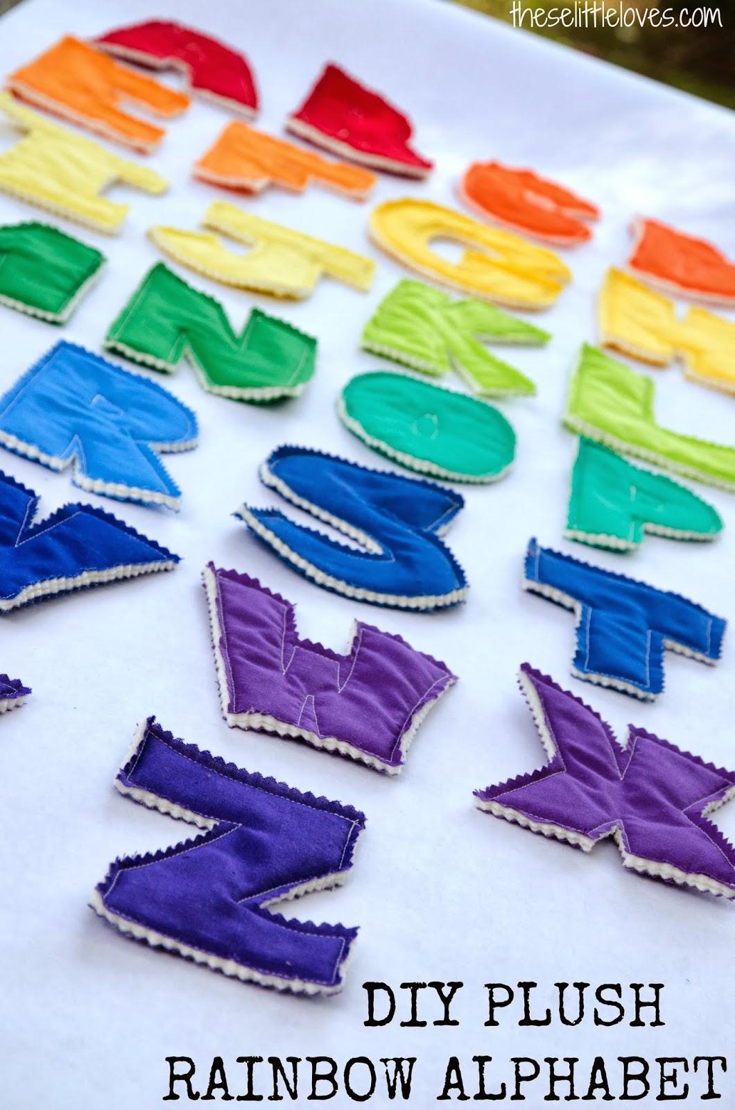 these little loves: DIY Rainbow Plush Alphabet and ...
