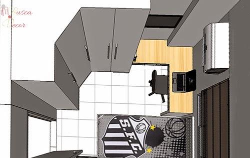 dormitorio adolescente 3D projeto
