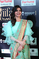 Samantha Ruth Prabhu Smiling Beauty in strange Designer Saree at IIFA Utsavam Awards 2017  Day 2  Exclusive 33.JPG