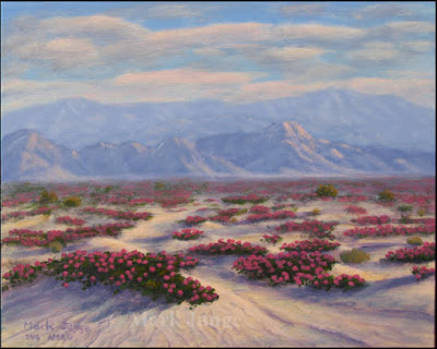 sand,dunes,verbena,flowers,hills,mountains,La Quinta,CA,California,distant,distance,purple,blue,pink,magenta