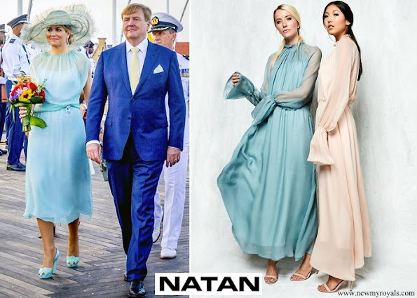 Queen Maxima wore Natan dress from Spring/Summer 2018 Collection