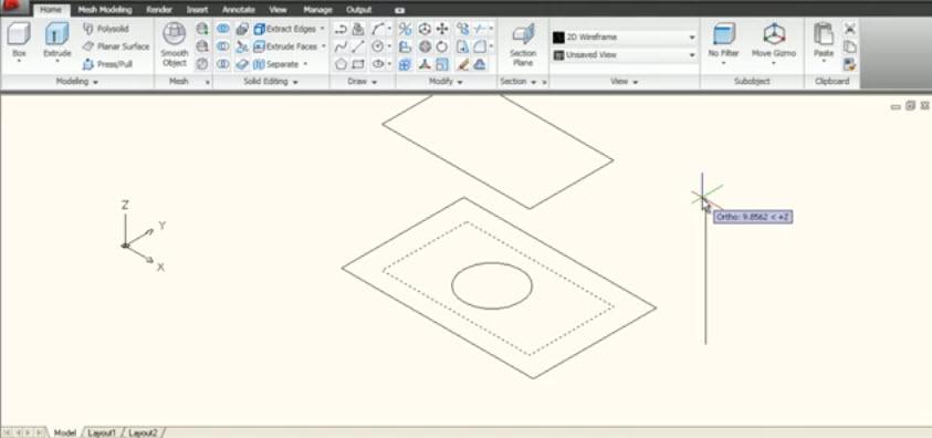 วิธีการใช้คำสั่ง Loft,Cross Section,Path,Guide Command 3D