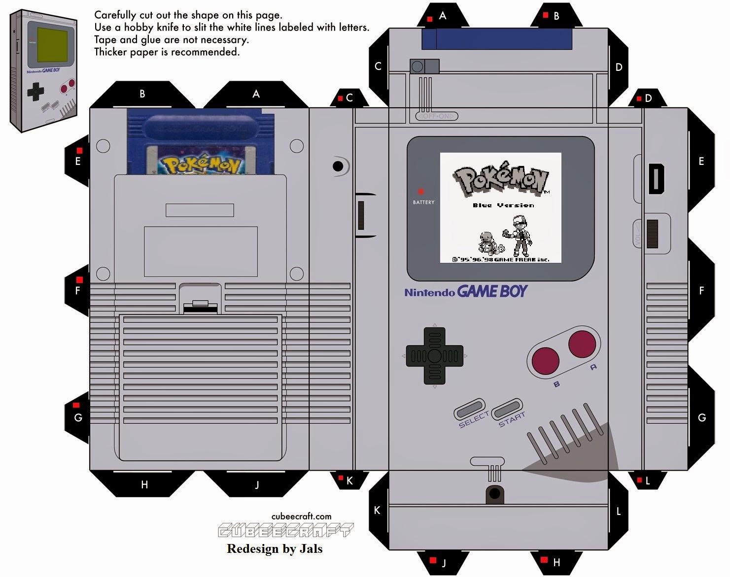 Figura de papel de una Game Boy – Manualidades de papel - photo#23