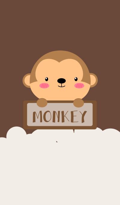 Simple Cute Love Monkey Theme