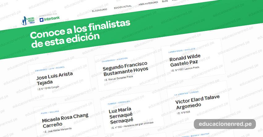MAESTRO QUE DEJA HUELLA: Conoce a los finalistas edición 2019 - www.maestroquedejahuella.com.pe