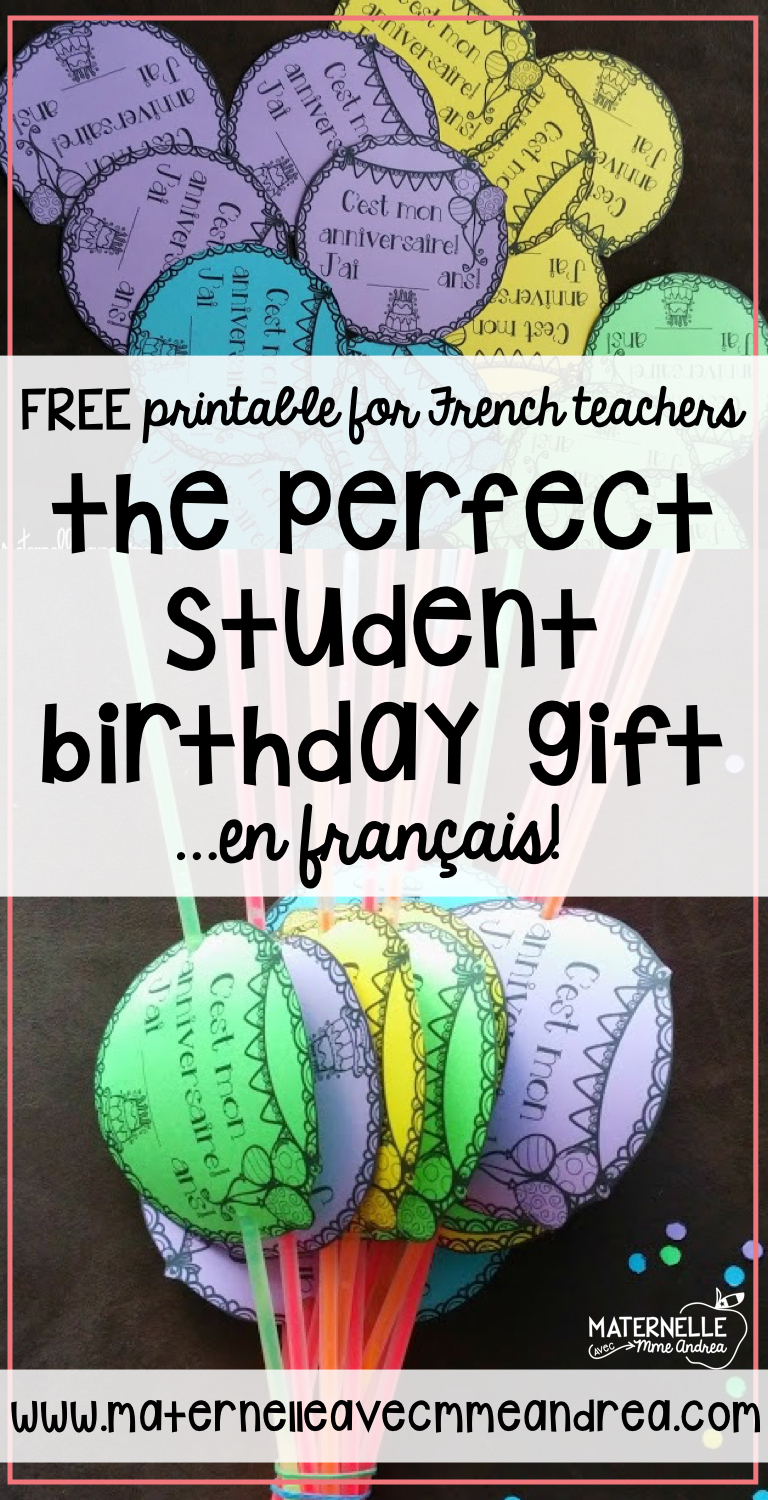 Need Some Last Minute Birthday Gifts For Your French Primary Class Check Out These