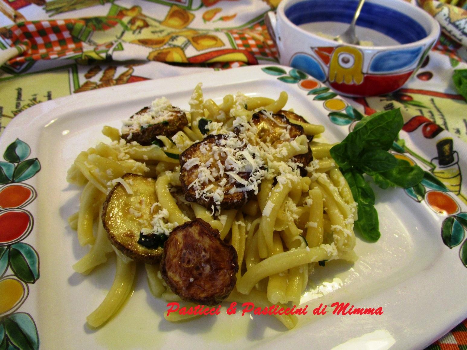 Pasticci pasticcini di mimma pasta con la zucchina for La zucchina