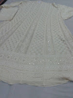 pure white designer anarkali