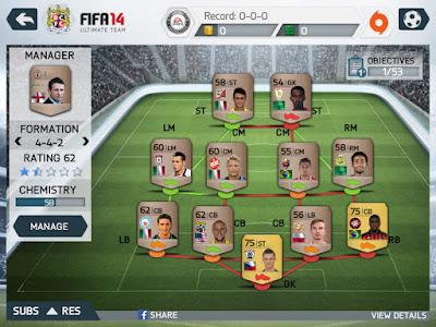 FIFA 14 Apk Formation