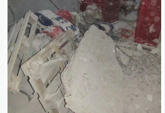 В Стерлитамаке на двух рабочих упала бетонная плита