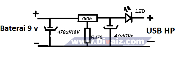 Skema powerbank sederhana 1 - www.divaizz.com