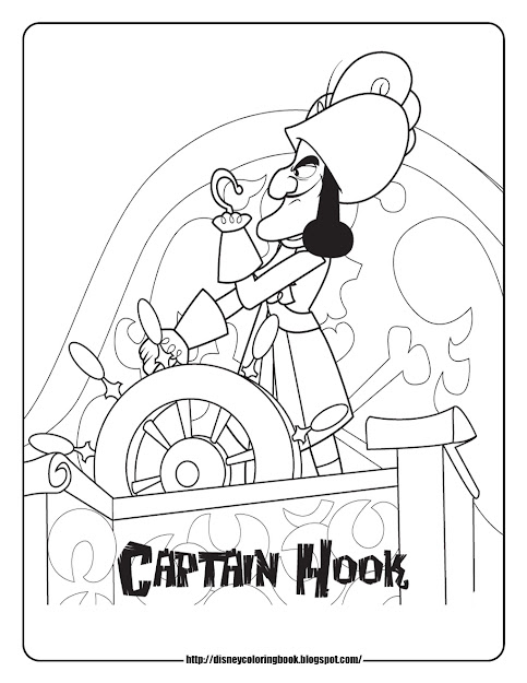 Jake And The Never Land Pirates Coloring Pages Captain Hook