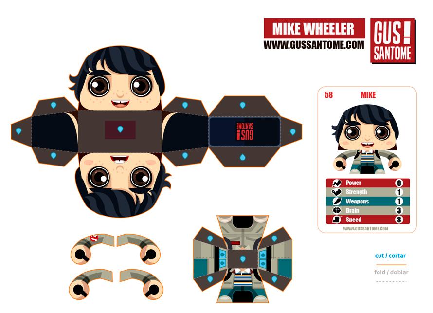 Mini papercraft mike wheeler stranger things mike wheeler stranger things altavistaventures Choice Image