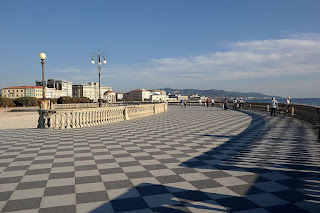 The beautiful Terrazza Mascagni is a feature of the  waterfront in modern Livorno