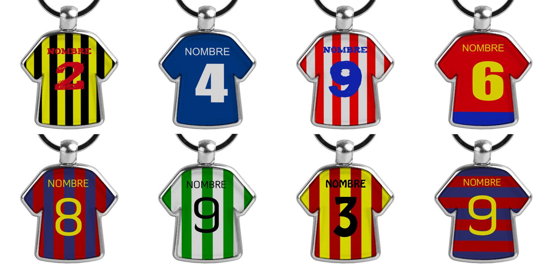 dacba528bfe64 Crea llaveros personalizados con la camiseta de tu equipo de fútbol