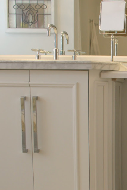 Master bathroom after renovation by Hello Lovely Studio Chicagoland fixer upper