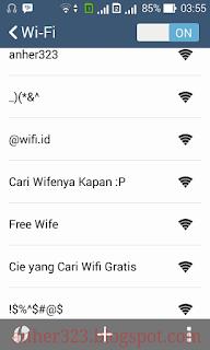 Screenshot dari android tetangga
