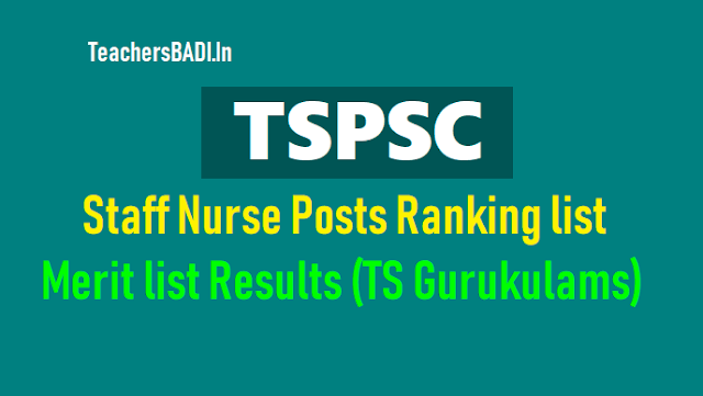 tspsc staff nurse ranking list merit list results,tspsc gurukulam staff nurses recruitment results,tspsc gurukulams staff nurses recruitment merit list final results 2017,tspsc staff nurses recruitment 2017 ranking list final results