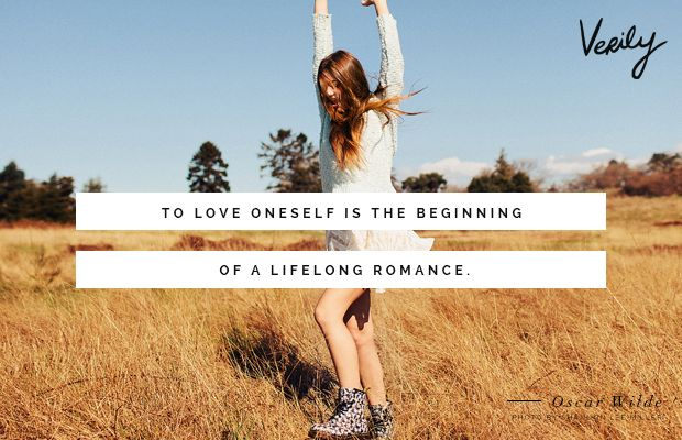 How to live Life, from an Oscar Wilde Perspective- quotes-'To love oneself is the beginning of a lifelong romance.'- Image thanks to verily-com