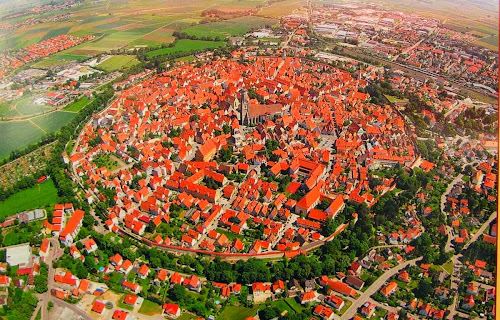 Nordlingen aeiral view - Germany