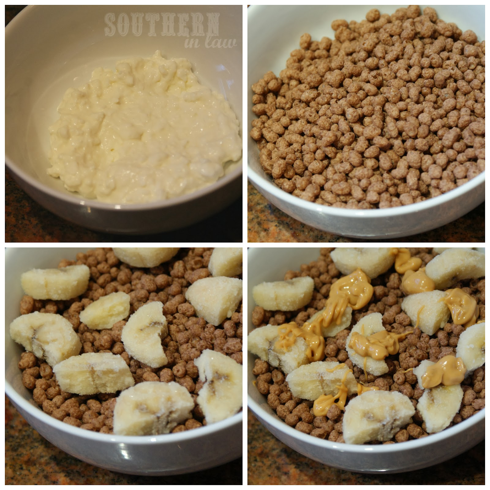 Cocoa Puffs Cereal Mess - Peanut Butter Cottage Cheese Banana - Aldi Gluten Free Cereal Review