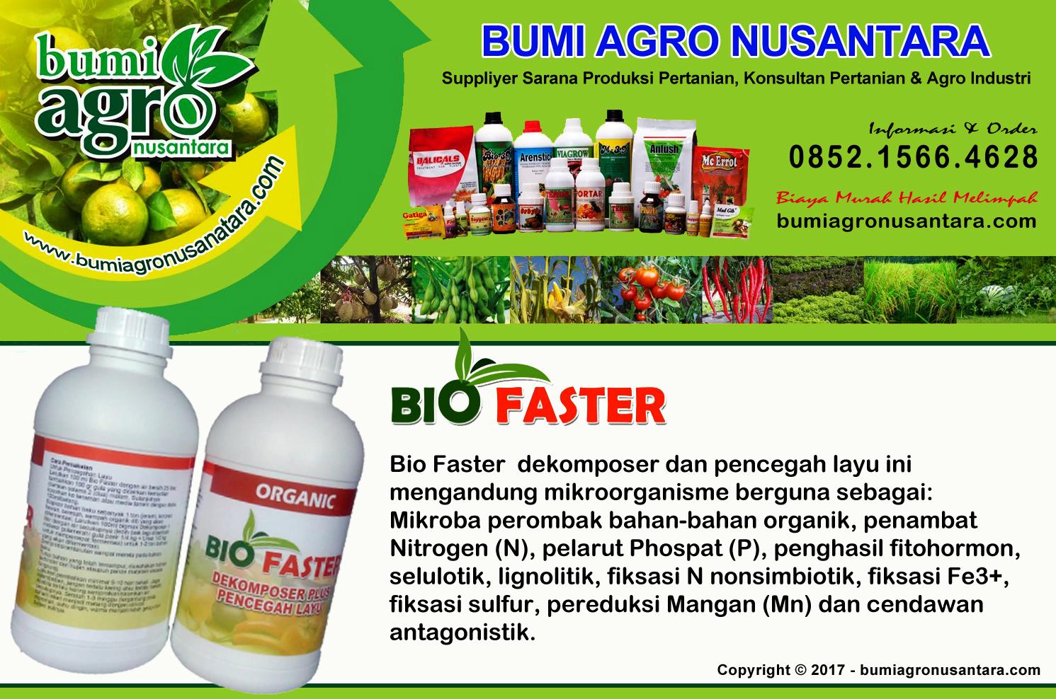 pupuk organik, bio faster, pupuk ramah lingkungan, bum agro nusantara,