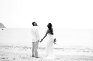 Kenya Moore and Husband Wedding Photo