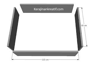 Komponen Lempengan Bak Kolam Minimalis