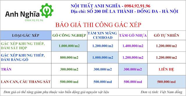 Thi công làm gác lửng, gác xép gỗ, gác xép sắt tại Hà Nội & TP. HCM