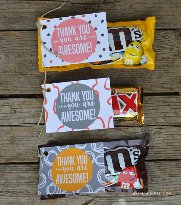 I love these printable thank you tags. Perfect to go with any little or big gift, especially with chocolate :)
