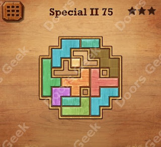 Cheats, Solutions, Walkthrough for Wood Block Puzzle Special II Level 75