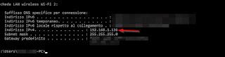 IP del PC VLC