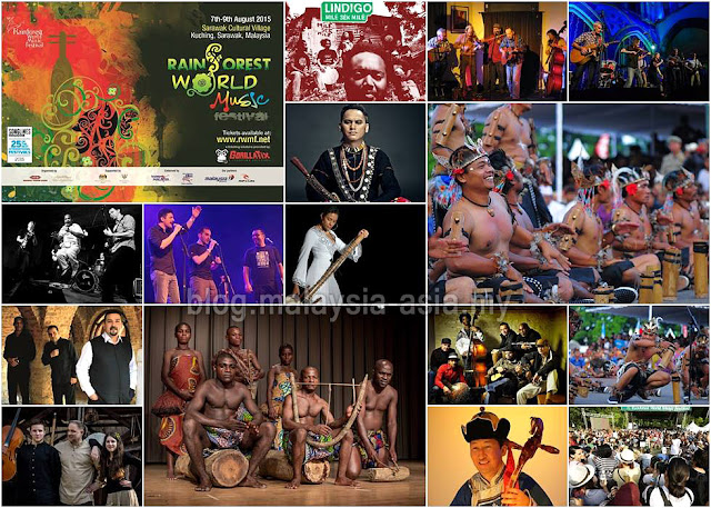Rainforest World Music Festival 2015 Bands Performers