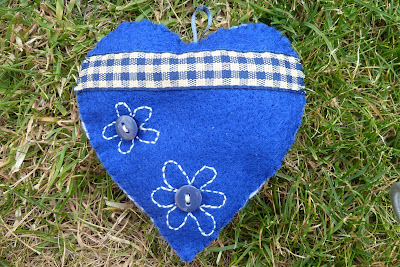 Blue heart lavender bag