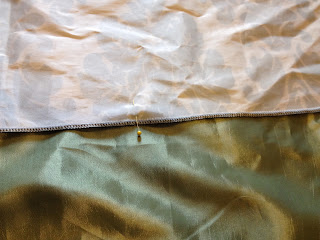 how to lengthen a curtain and add embellishments