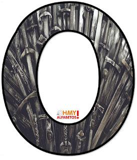 Abecedario con las Espadas del Trono, Juego de Tronos. Alphabet with the Throne Swords, Game of Thrones.