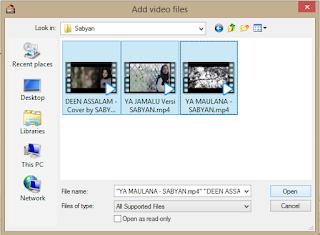 Proses menambahkan video