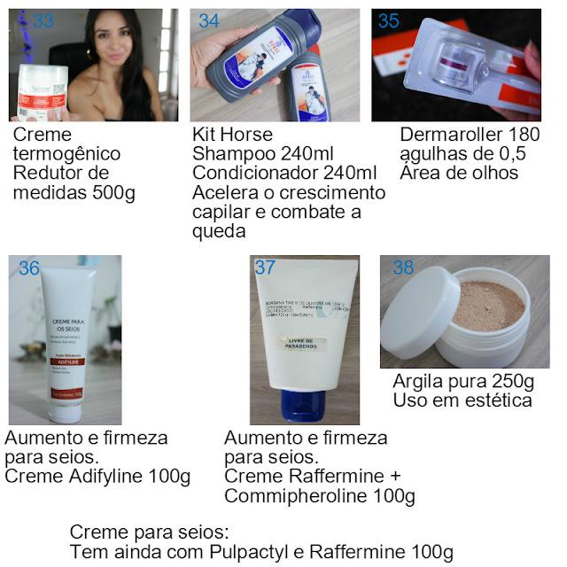 pele, produtos de pele, creme seios, ácido glicólico, máscara facial, kit horse, manchas de pele, acne, poros, pele oleosa