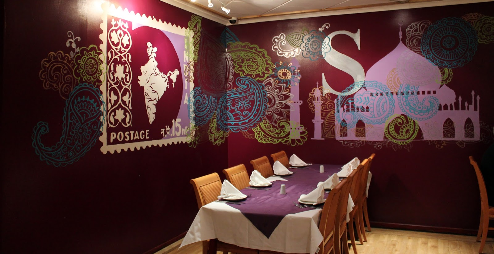 Curry life blog a feast for the eyes inspiring wall art for Art of indian cuisine